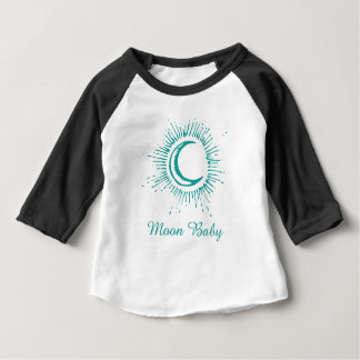 """Moon Baby"" Apparel Clothing (Green-Teal) Baby T-Shirt"