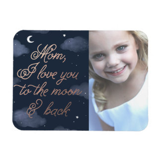 Moon & Back Mother's Day Rectangular Photo Magnet