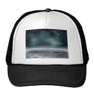 Moon background mesh hats