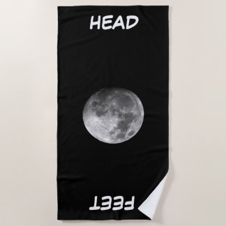 Moon beach towel