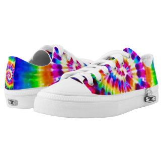 Moon Bowling Tie Dye Custom Zipz Low Top Kickers Printed Shoes
