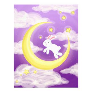 Moon Bunny Purple Personalized Flyer