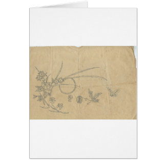 moon butterfly flower greeting cards