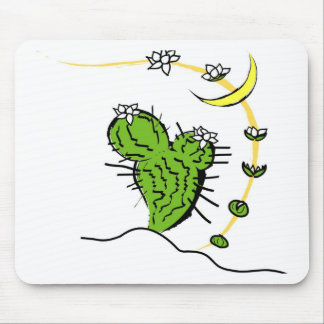 Moon cactus mouse pad