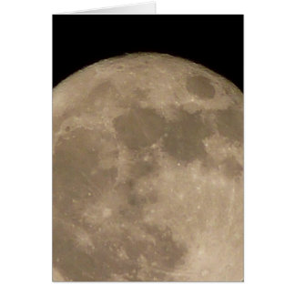 Moon Card Romantic Full Moon Blank Greeting Card