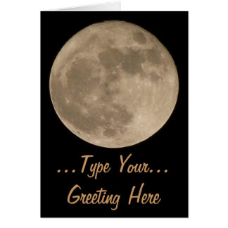 Moon Card Romantic Full Moon Blank Greeting Card