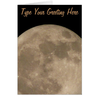 Moon Card Romantic Full Moon Custom Greeting Card