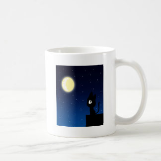 Moon Cat Basic White Mug
