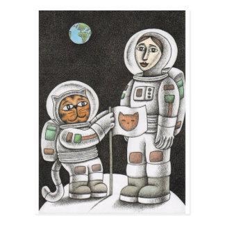 'Moon Cat' Postcard