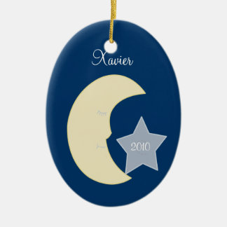 MOON Celestial Personalized Christmas Ornament