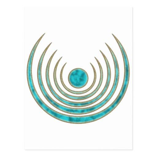 """Moon charm """"Blue Moon"""", Luna amulet Postcards"""