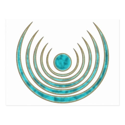 "Moon charm ""Blue Moon"", Luna amulet Post Cards"