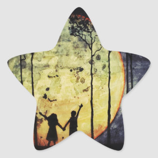 Moon Children Star Sticker