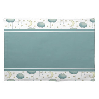 Moon Clouds Stars and Raindrops Placemat