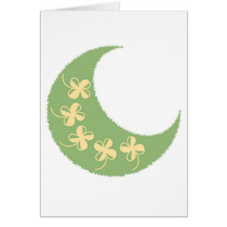 moon clover greeting card
