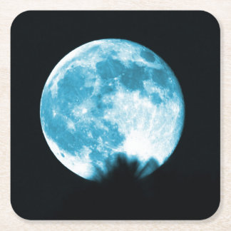 Moon Collection - Blue Moon Coaster Square Paper Coaster