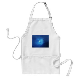 MOON covered with CLOUDS - NIGHT SKY Apron