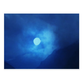 MOON covered with CLOUDS - NIGHT SKY Postcards
