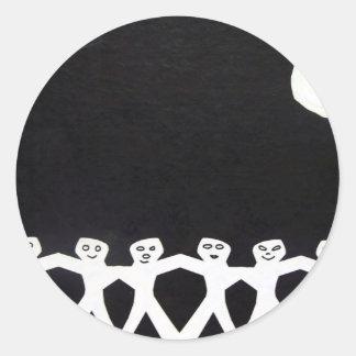 Moon Dance 3 by Piliero Round Sticker