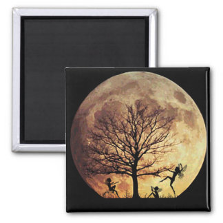 Moon Dance Square Magnet