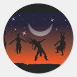 Moon Dance NAHM Sticker Round Stickers