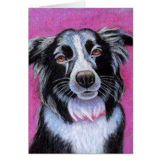Moon Dog Border Collie Card