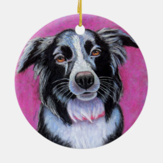 Moon Dog, Border Collie Christmas Ornament