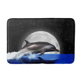 Moon Dolphin Bath Mat