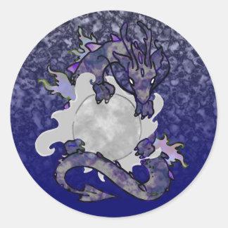 Moon Dragon Sticker
