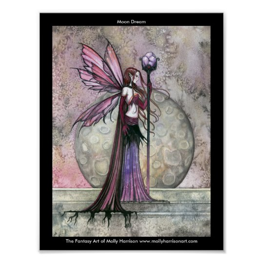 Moon Dream Fairy Poster by Molly Harrison