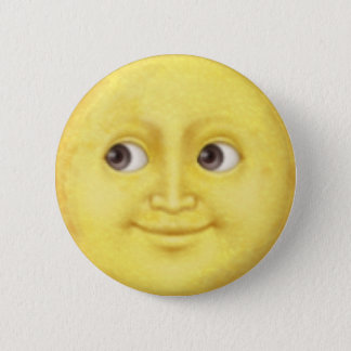 Moon Emoji 6 Cm Round Badge