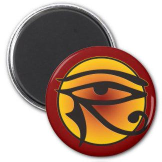 Moon Eye Of Horus 6 Cm Round Magnet