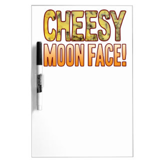 Moon Face Blue Cheesy Dry Erase Board