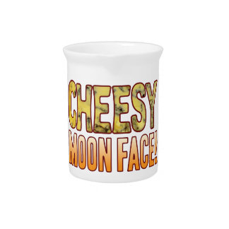 Moon Face Blue Cheesy Pitcher