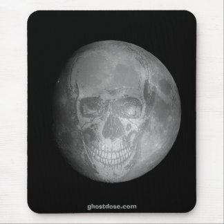 Moon Face Mouse Pad