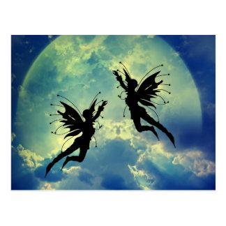 moon fairies postcard
