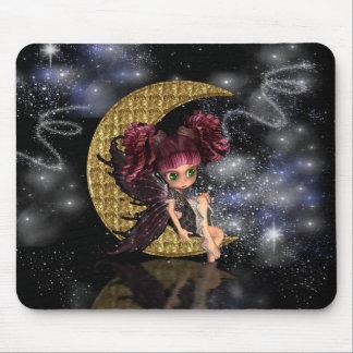 moon fairy mousepad, mouse mat, gothic fairy mouse mat