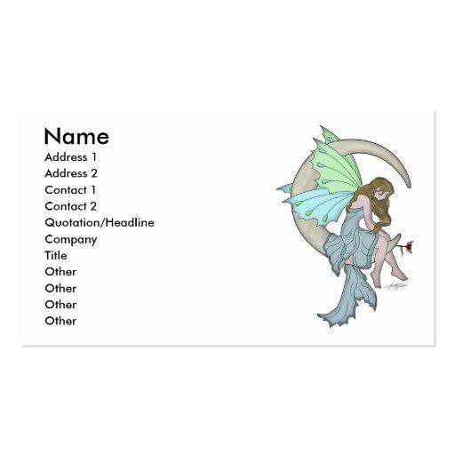 Moon Fairy Profile Card Business Card Template