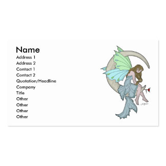 Moon Fairy Profile Card Pack Of Standard Business Cards