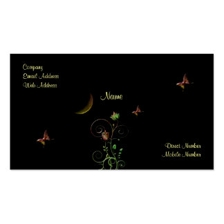 Moon Flower Pack Of Standard Business Cards