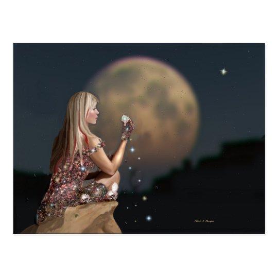 Moon Flower Postcard
