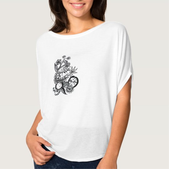 moon flower - slouch women's shirt