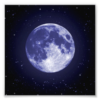 Moon from Earth Photo Print