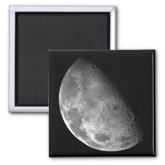 Moon from Galileo Planetary Space Mission Square Magnet