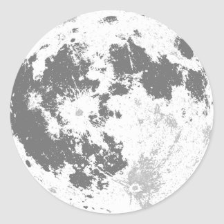 Moon Full Moon Bright Supermoon Classic Round Sticker