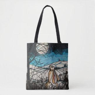 Moon Gazer Hare Tote Bag