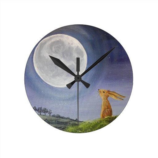 Moon Gazing Hare Clock