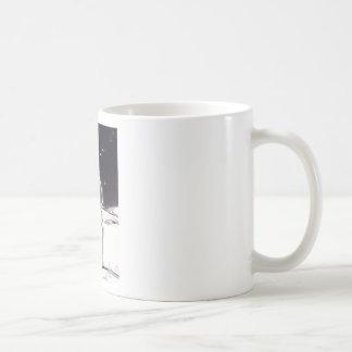 Moon Gazing Basic White Mug