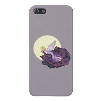 Moon Gazing Purple Flower Fairy Evening Sky iPhone 5/5S Cover