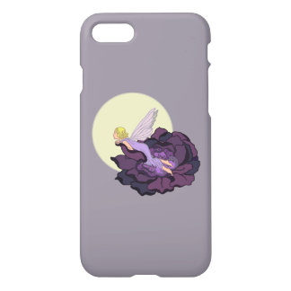 Moon Gazing Purple Flower Fairy Evening Sky iPhone 7 Case